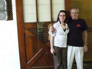 Me & Jim at Secretariat's former stall